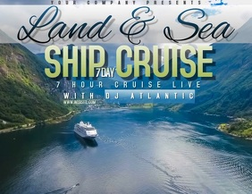 SEA CRUISE SHIP TRAVEL AD DIGITAL VIDEO FLYER