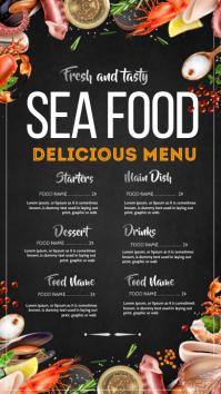 Sea food menu Instagram na Kuwento template