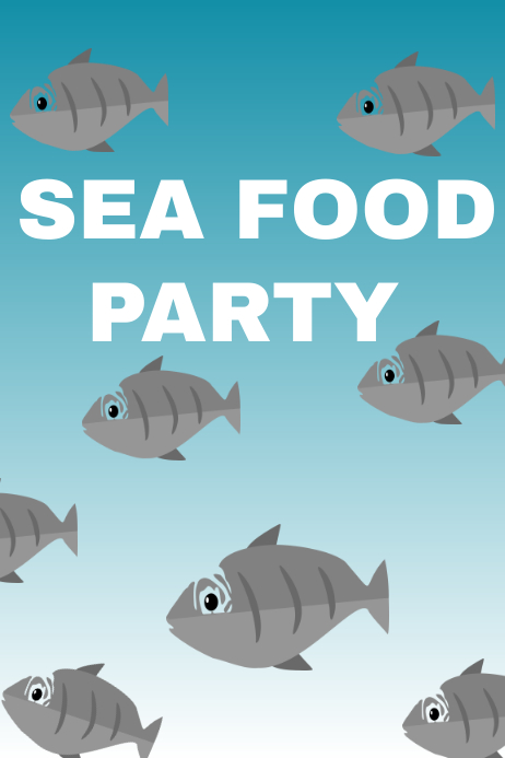Sea food party poster