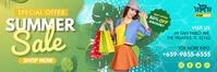 Sea Green Shopping Sale 2' x 6' Banner Templa template