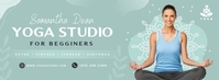 Sea Green Yoga Facebook Cover Photo template