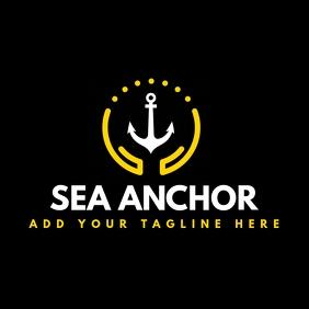 sea restaurant logo template design