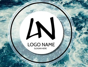 SEA WAVE LOGO TEMPLATE Рекламная листовка (US Letter)