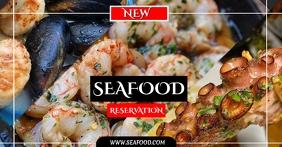 SEAFOOD Imagen Compartida en Facebook template