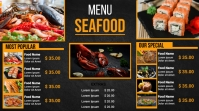 Seafood digital menu Digitale Vertoning (16:9) template