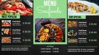 Seafood digital menu template