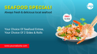 Seafood Fish Restaurant Menu Twitter post template