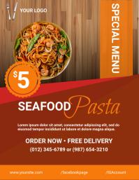 Seafood flyer Folder (US Letter) template