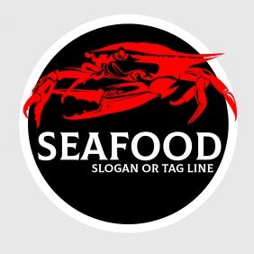 seafood logo template