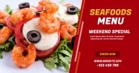 Seafood Menu Facebook Shared Image template