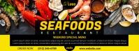 Seafood Menu Facebook Cover template