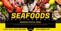 Seafood Menu Facebook Cover delt Facebook-billede template