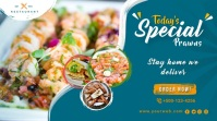 Seafood Promotion Banner Twitter Post template