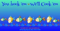 Seafood Restaurant Advertisement Facebook Advertensie template
