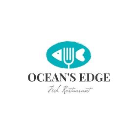 Seafood Restaurant Logo Logotipo template