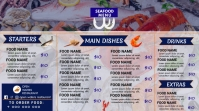 Seafood restaurant menu Digitale Vertoning (16:9) template
