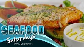 Seafood Restaurant Video Template Pantalla Digital (16:9)