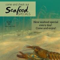 Seafood special menu Publicación de Instagram template