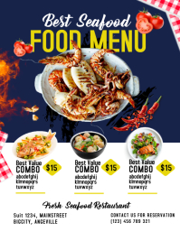 Seafood template Flyer (US-Letter)