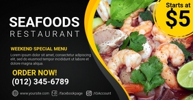 Seafoods Restaurant Facebook Shared Image template