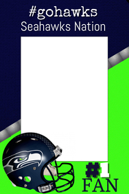 Seahawks Football Photo Prop Frame