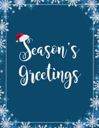 Season's Greetings Snowflakes