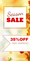 Season Sale Autumn Roll up Banner Advert Shop