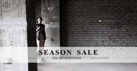 Season sale Facebook video Post template