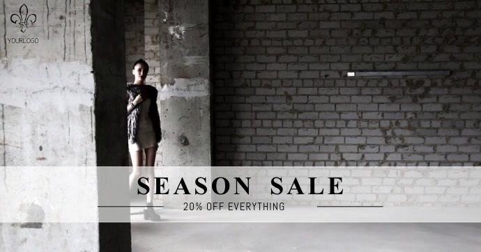 Season sale Facebook video Post template