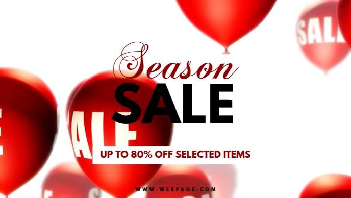 Season sale Facebook video Post promotion template