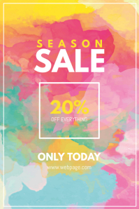 Season Sale Flyer template colorful Poster