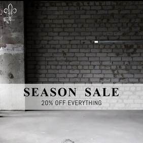 Season sale Instagram video Post template