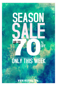 season sale poster template