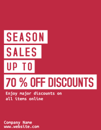 season sale red and white flyer