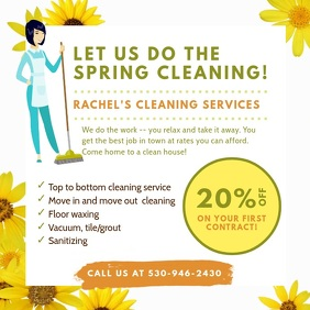 Season Spring Cleaning Service Instagram Ad Square (1:1) template
