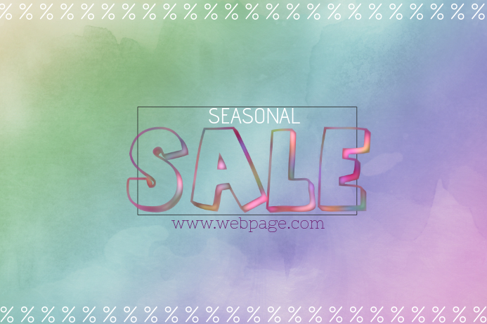 seasonal colorful landscape sale poster template