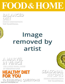 Seasonal Food Magazine Cover template