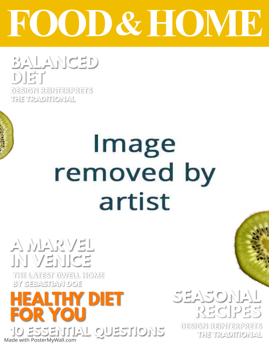 Food Book Cover Maker : Seasonal food magazine cover template postermywall