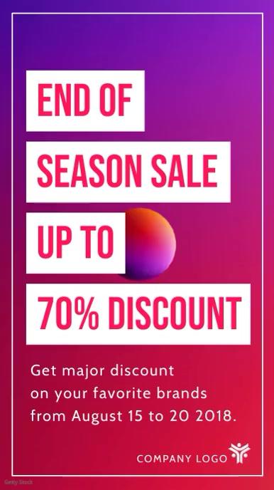 Seasonal Sale Digital Display video Template