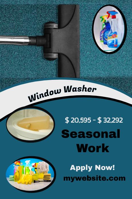 Seasonal Window Washer Hiring Flyer