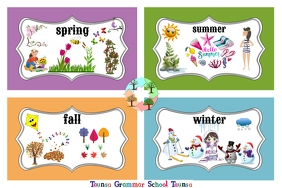 Seasons Transparent 4 stopy × 6 stóp template
