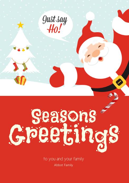 Seasons Greetings card Template   PosterMyWall
