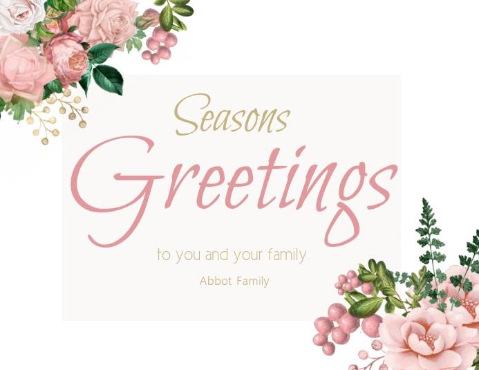 Seasons Greetings card Flyer (US Letter) template