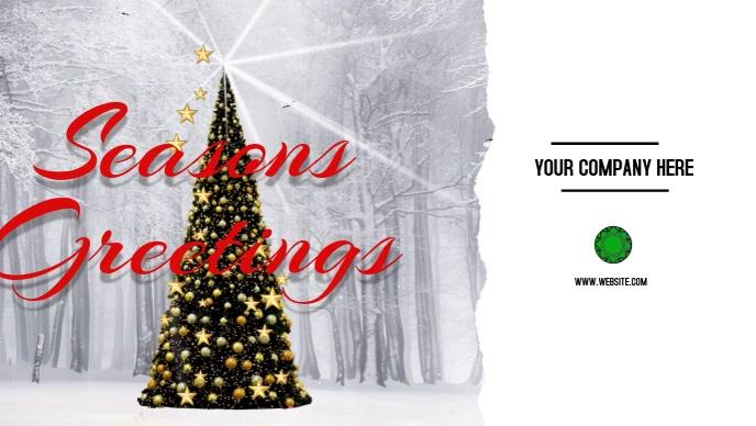Seasons Greetings Facebook Cover Video