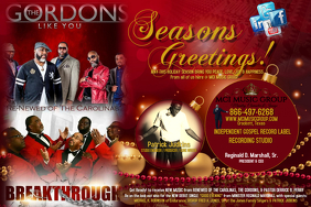 SEASONS GREETINGS FLYER TEMPLATE