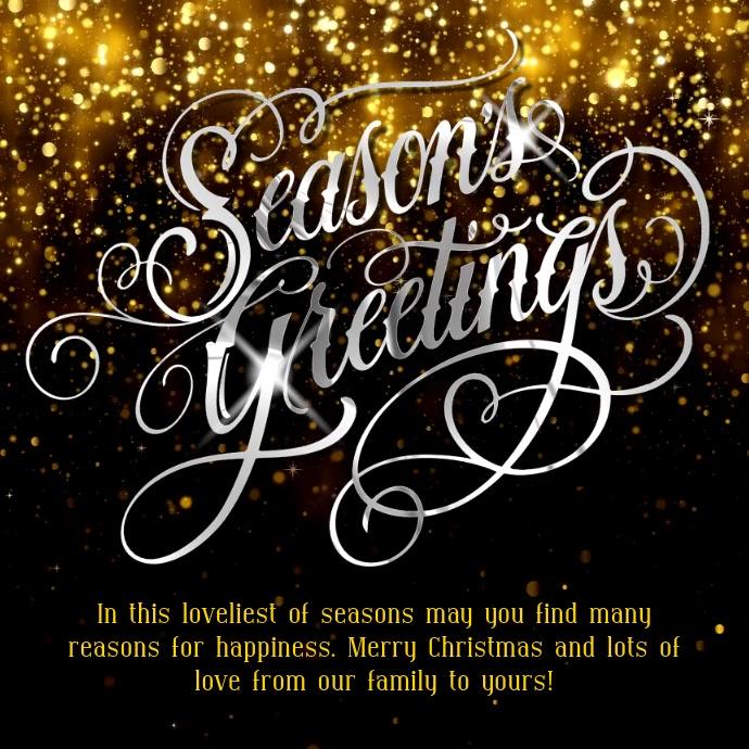 Seasons Greetings Instagram Template   PosterMyWall