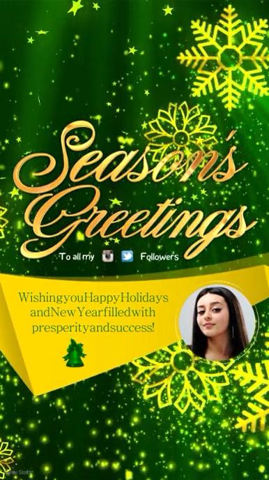 Seasons greetings video template postermywall seasons greetings video m4hsunfo