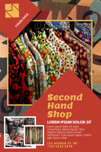 Second Hand Shop Flyer Template