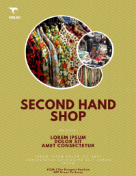 Second Hand Store Shop Flyer Template