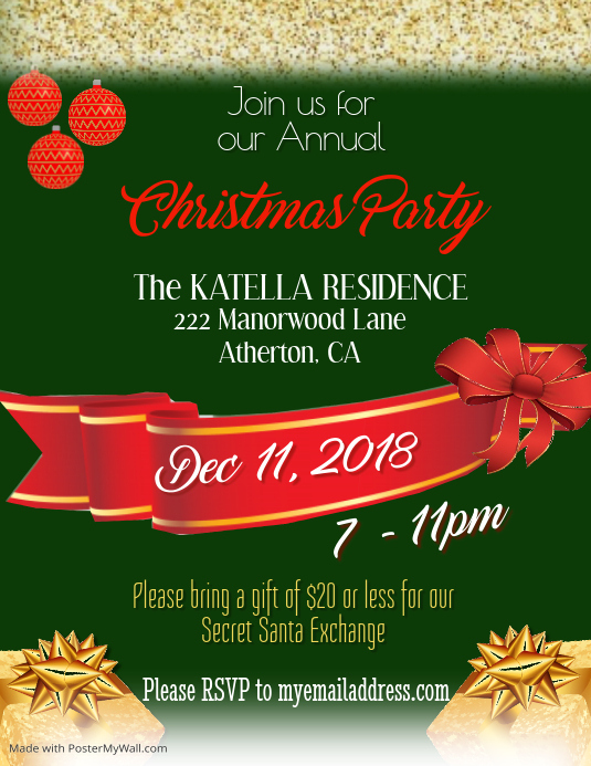 Secret Santa Christmas Party Template